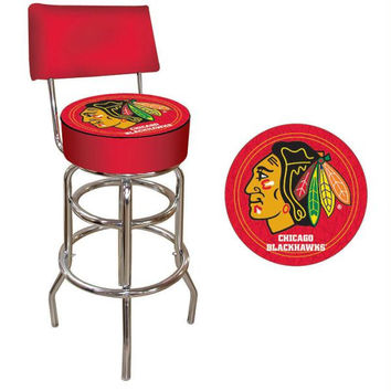 NHL Chicago Blackhawks Bar Stool with Back