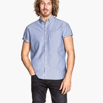 H&M Short-sleeved Oxford Shirt $14.99