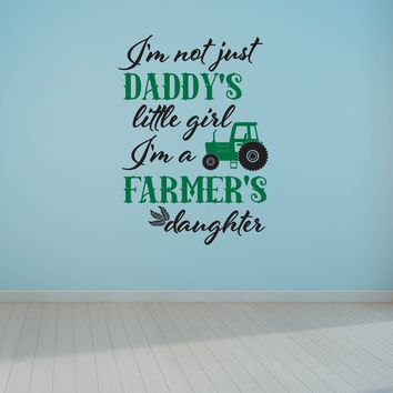 Daddys Little Girl Farmers Daughter Wall Art Decal Sticker