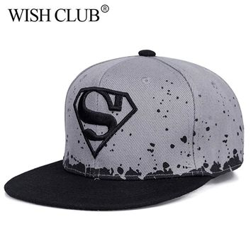 WISH CLUB Kids Snapback Caps For Boy Girl Baseball Cap Baby Hip Hop Hat Parent-child Cap For Adult And Child Sun Hat