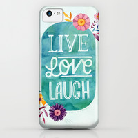 Live Love Laugh iPhone & iPod Case by becca cahan | Society6