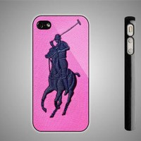 Polo Ralph Lauren Logo Pink iPhone 44S Case iPhone 5 Case Samsung Galaxy S2 Case by WINCUSTOM