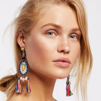 Free People Cosmo Silk Velvet Pearl Earrings