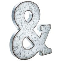 Large Galvanized Metal Ampersand | Shop Hobby Lobby