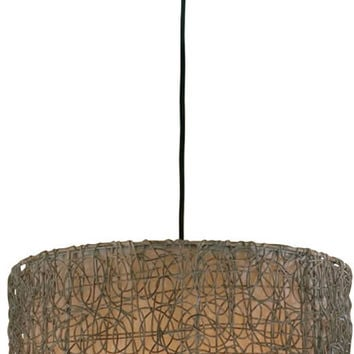 "0-008620>23""w Knotted Rattan 3-Light Pendant Light Chai"
