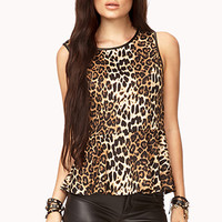 Fancy Leopard Peplum Top
