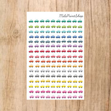 Tiny Cars Die Cut Planner Sticker - 160 stickers per sheet