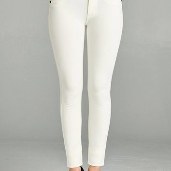 OFF WHITE PLUS SIZE PONTE KNIT JEAN