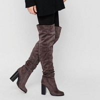 Public Desire Hope Block Heeled Thigh High Boots at asos.com