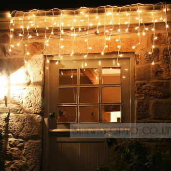 Connectable 5M led curtain icicle string lights led  fairy lights Christmas lamps Icicle Lights Xmas Wedding Party Decoration