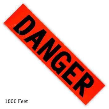 Caution and Danger Tape: 1000 Feet Danger :  ( Pack of  4 Pc. )