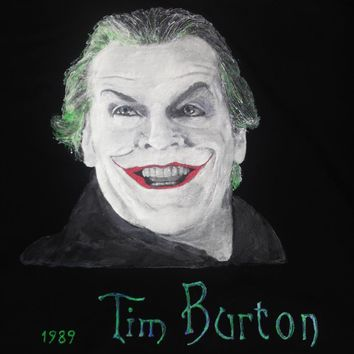 Joker Jack Nicholson T shirt 1989 Tim Burton Movie Tshirt