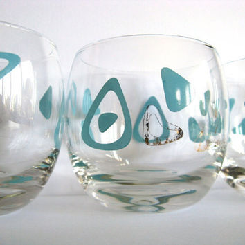 Roly Poly Glasses 60's Retro Vintage Light Blue by pillowsophi