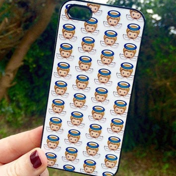 Iphone 5 5S Phone Case Emoji Angels Print Hipster Phone Cover