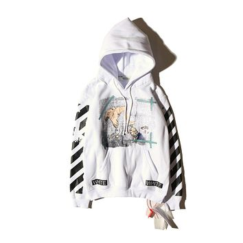 OFF-WHITE Fashion Sweatshirt Hooded 4006