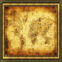 Happy 40cm x 30cm Gifts DIY Wall Sticker Home Decor Removable Vintage Style Retro Cloth Poster Globe Old World Nautical Map