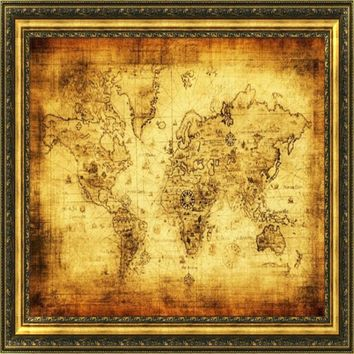 Best old world map poster products on wanelo happy 40cm x 30cm gifts diy wall sticker home decor removable vintage style retro cloth poster gumiabroncs Images