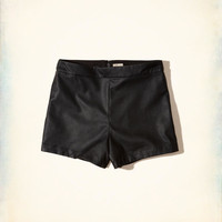 Girls Hollister + Sydney Sierota High-Rise Vegan Leather Shorts | Girls Bottoms | HollisterCo.com