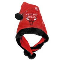 Forever Collectibles Chicago Bulls Thematic Santa Hat - Adult (Red)