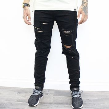 Dillan Distressed Jeans (Black)