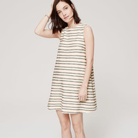 Textured Stripe Swing Dress