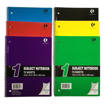 *CHARTA WIREBOUND NOTEBOOKS 1 SUBJECT [70 PAGES]