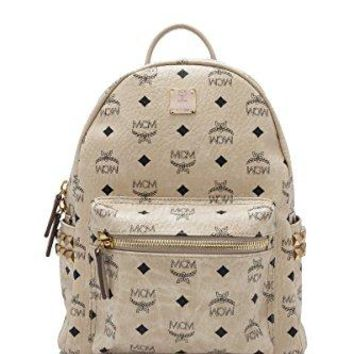 MCM Womens Stark Side Stud Small Backpack