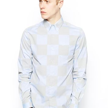 Fred Perry Laurel Wreath Shirt With Large Chequerboard Print