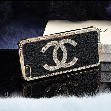Chanel chanel LV iphone 4 s/s following 5/5 set of apple 4 s 5 protect holster diamond hanging on the rope
