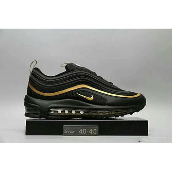 NIKE AIR MAX 97 Fashion Running Sneakers Sport Shoes Black golden I-HAOXIE-ADXJ