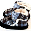 Polar Feet® Infants' Booties Cubbies™ Cool Blue Plaid