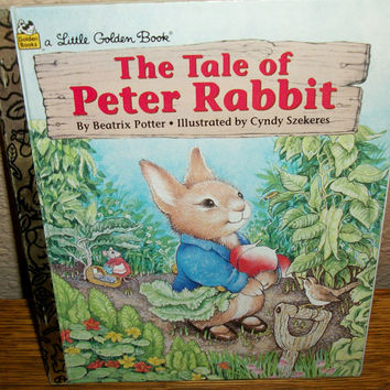 Tale of Peter Rabbit Little Golden Book Beatrix Potter Children's  Book Color Illustrations Vintage Picture Story