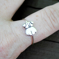 Adjustable Wire Ring Puppy Love