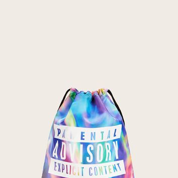 Tie Dye Backpack With Drawstring