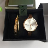 Calvin Klein Women Fashion Quartz Movement Watch Bracelet Set Two-Piece8