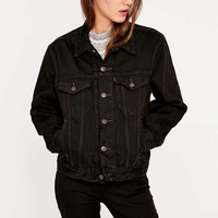 Urban Renewal Vintage Customised Overdyed '90s Levis Black Denim Jacket - Urban Outfitters