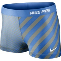 "Nike Women's 2.5"" Fitted Compression Pro Print Shorts"