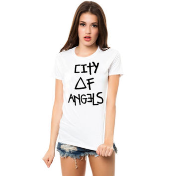 city of angel women tshirt ----- size S,M,L,XL,2L,3XL