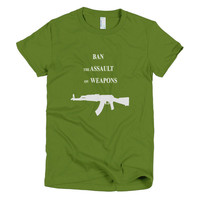 Ban the Assault women's t-shirt
