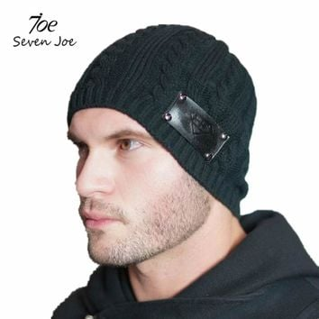Seven Joe Beanies Knit Men's Winter Hat Caps workout Bonnet Winter Hats For Men Beanie Warm gyms fitness Knitted Hat