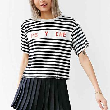 Life Psyche Striped Tee- Black Multi