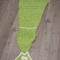 Crocheted Mermaid Tail Blanket, Adult Size Mermaid Tail