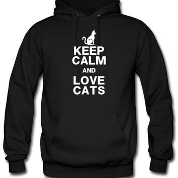 KEEP CALM LOVE CATS hoodie