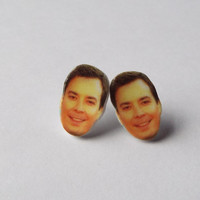Jimmy Fallon Celebrity Earrings Fun Jewelry Gag Gift Unique