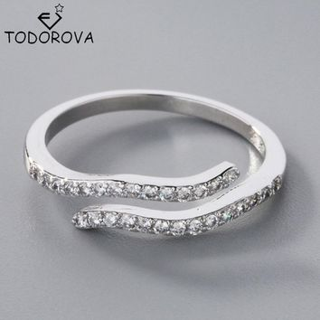 Todorova 2017 New High Quality 925 Sterling Silver Aquarius 12 Constellation Romantic Rings for Women Jewelry Wedding Gift