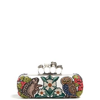 Medieval Animal-embroidered knuckle clutch | Alexander McQueen | MATCHESFASHION.COM US