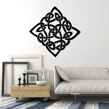 Vinyl Wall Decal Celtic Cross Irish Symbol Druid Ireland Stickers Murals Unique Gift (ig752)
