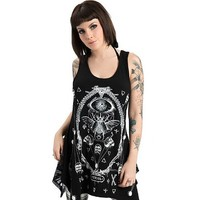 "Women's ""Death Metal"" Tarot Tank by Jawbreaker (Black)"