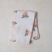 LITTLE UNICORN COTTON MUSLIN SWADDLE WATERCOLOR ROSE
