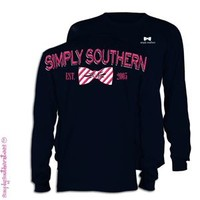 Simply Southern Back Logo Long Sleeve Tee in Navy